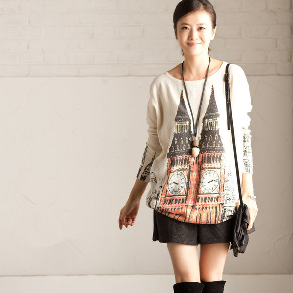 Printed sweater - Tkdress  - 1