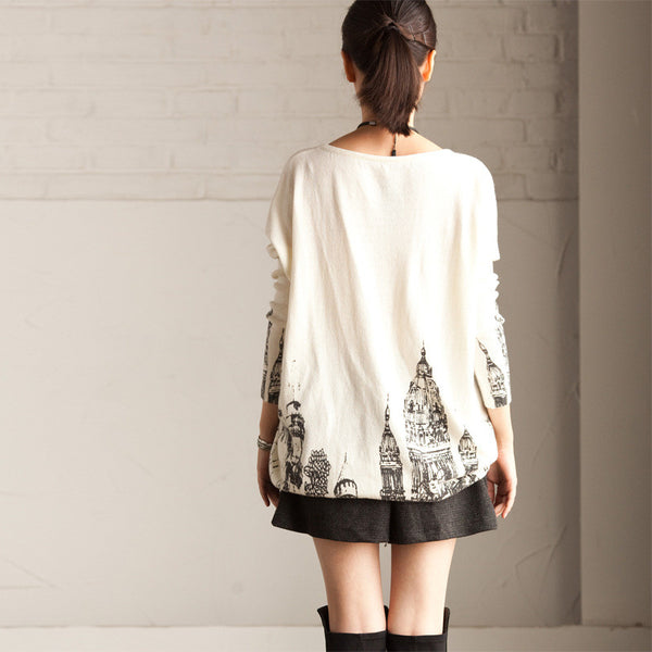 Printed sweater - Tkdress  - 2