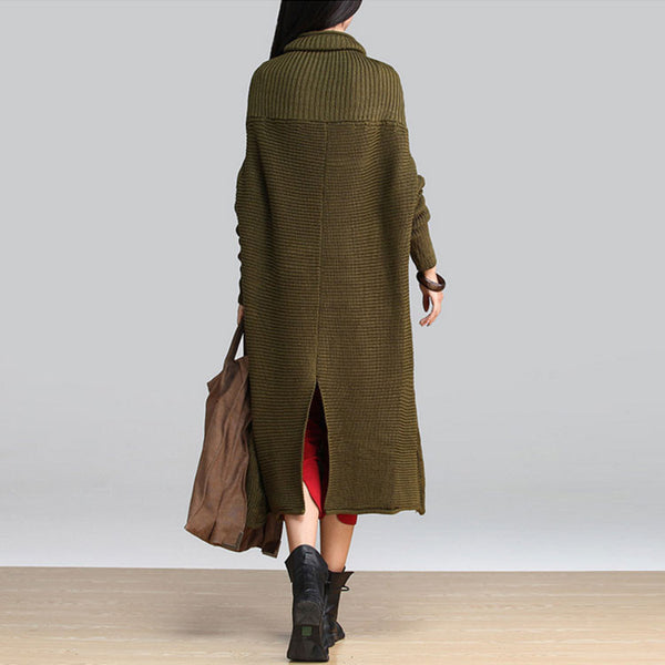 Wool Loose Army Green Sweater