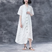 Summer Stripe Short  Sleeve Casual Dress