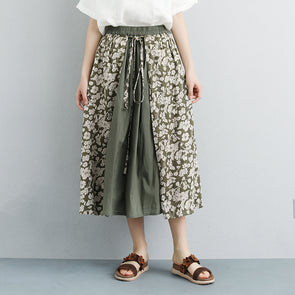 Summer Floral Casual Lacing Long Skirts