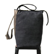 Canvas Women Black Shoulder Bag