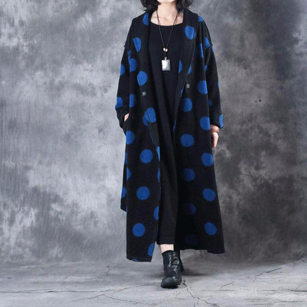 Women Casual Snap Long Sleeve Wool Coat