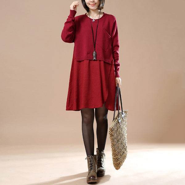 Autumn Long Sleeve Round Neck Loose Sweater