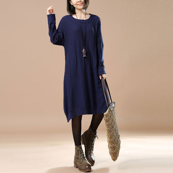 Navy Blue Loose Sweater