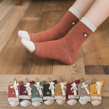 Cartoon Cotton Adult Autumn Socks