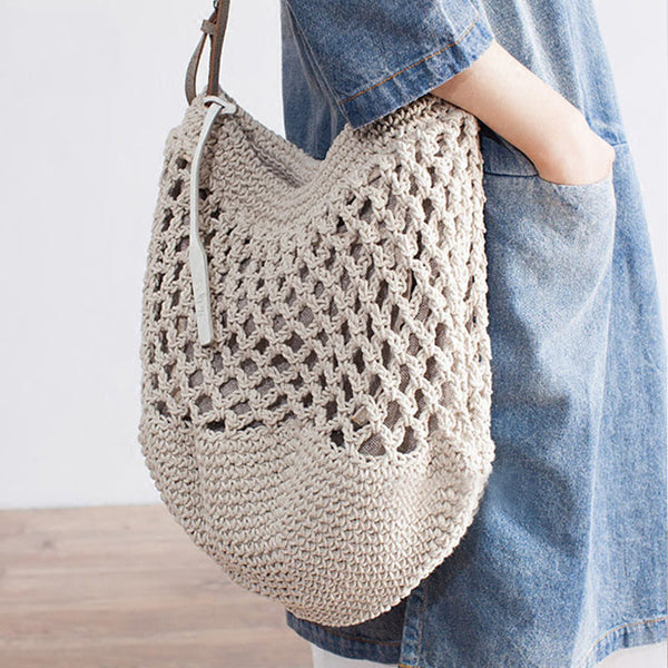 Women Weaving Holiday Shoulder Bag