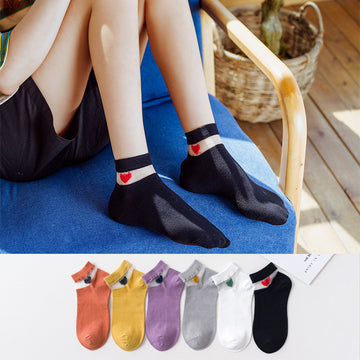 Women Patchwork Jacquard Summer Socks