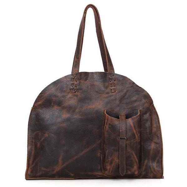 Women Casual Retro Leather Shoulder Bag - Buykud