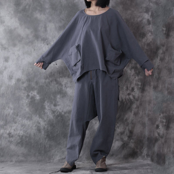 Casual Linen Loose Women Gray Twinset