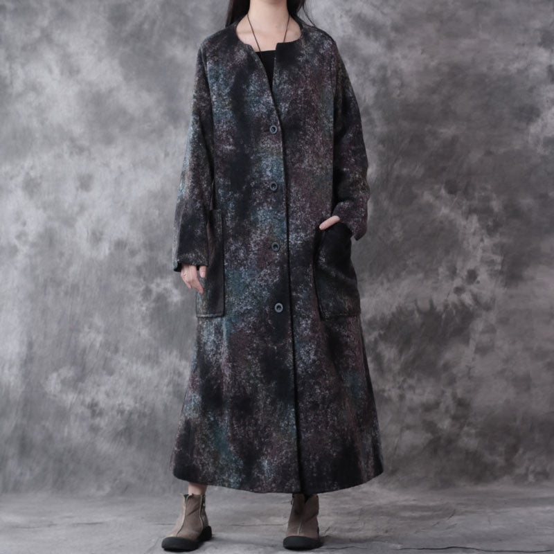 Green Retro Pocket Wool Coat