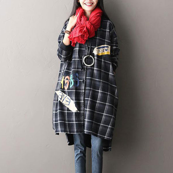 Hooded Plaid Woolen Jacket Coat - Buykud