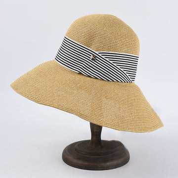 Women Sun Protect With Band Summer Hat