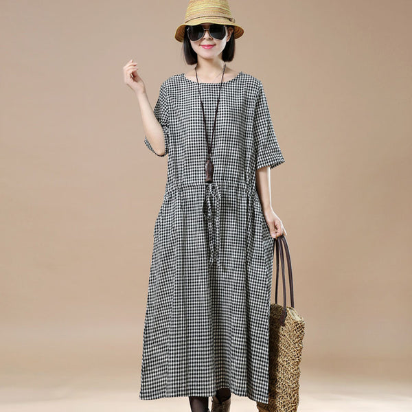 Lattice Casual lacing Loose Women Dress