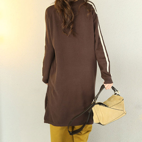 Women Casual Loose Knitting Sweater Dress