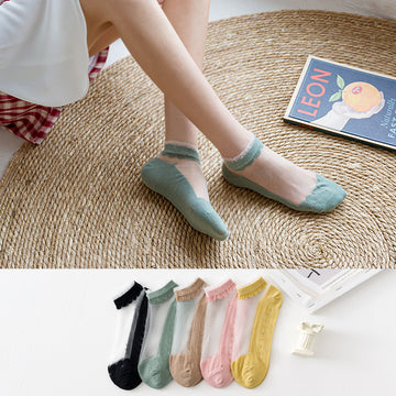 Women Patchwork Summer Adult Socks