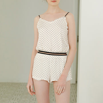Summer Dots Shorts Sleeveless Women Sleepwear