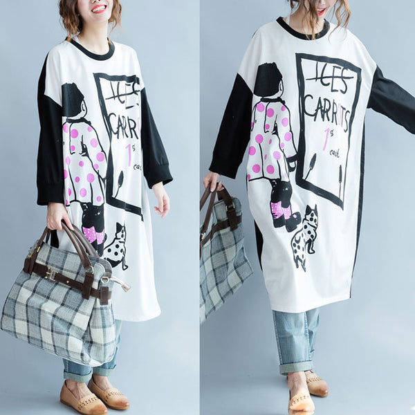 Spring And Autumn Cotton Bat Sleeves Long Pullover