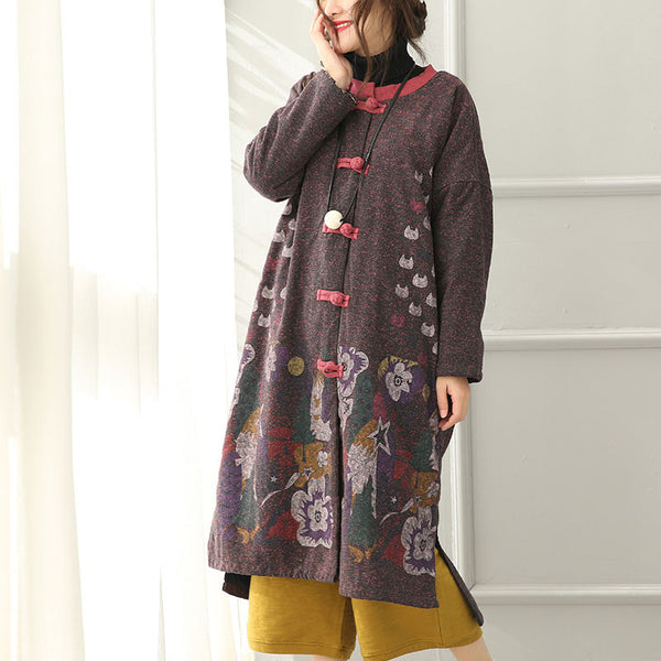 Printed Cotton Jacket Coat