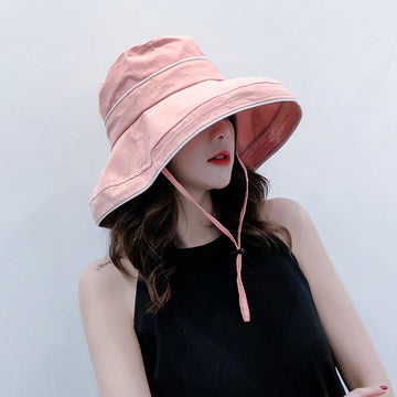 Lacing Beach Vacation Women Sun protection Summer Hat