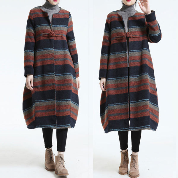 Loose Large Size Woolen coat Orange