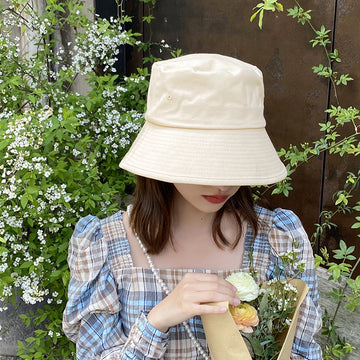 Women Summer Sun Protect Cotton Beach Vacation Hat