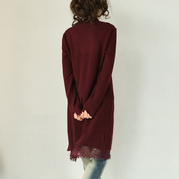 Cotton Loose Knit Lace Dress - Buykud