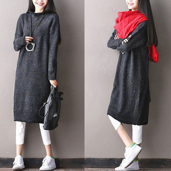 Loose Wool Dress