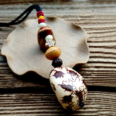 Wooden Beads Rope Chain Necklace Ethnic Accessories
