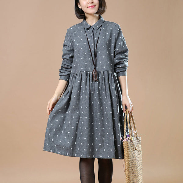 Casual Loose Snowflake Dress