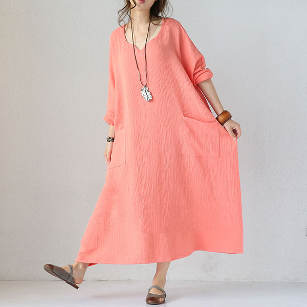 Pink Retro Loose Dress