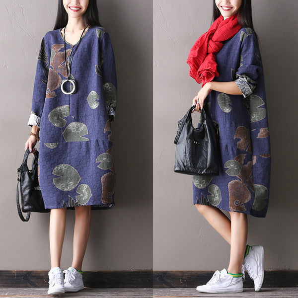 Cotton Linen Casual Loose Autumn Dress