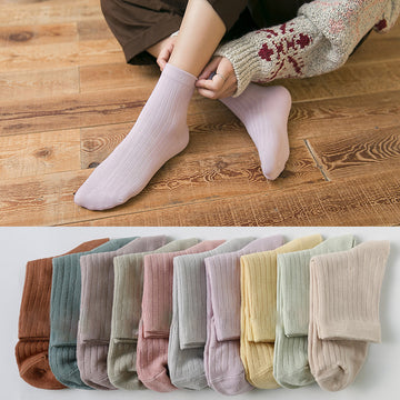 Women Cotton Adult Autumn Socks