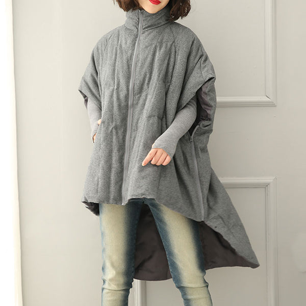 Women Winter Stand Collar Loose Casual Down Jacket