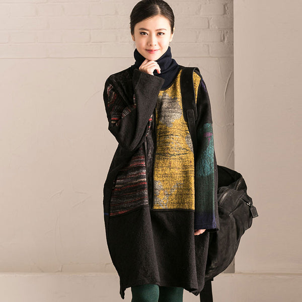 Winter Ethnic Style Loose Dress