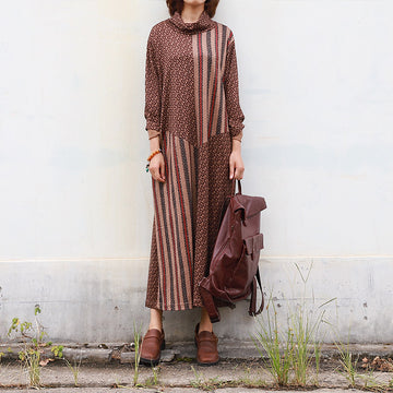 Buykud Beautiful Delicate Pattern Casual Loose Dress