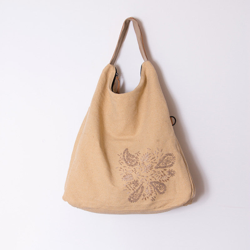 Women Linen handbag Bag Messenger bag