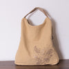 Women Linen handbag Bag Messenger bag - Buykud