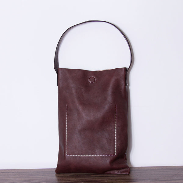 Women casual Leather handbag