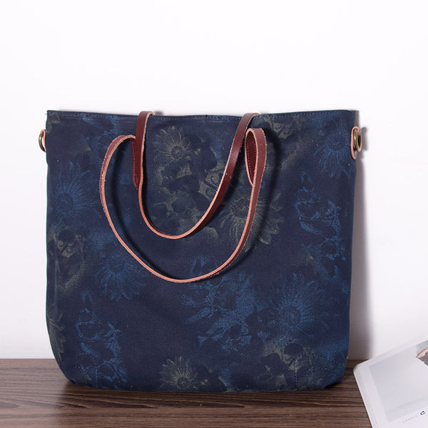 Women Canvas Casual Leather Bag - Buykud