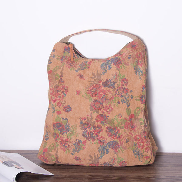Retro Women Floral Canvas Casual Shoulder Bag