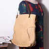 Leather  Canvas Women Casual Shoulder Bag - Buykud