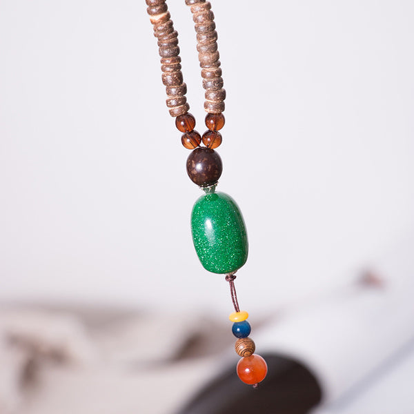 Women Wood Vintage Beads Necklaces - Buykud