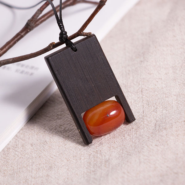 Retro Women Wooden Necklaces
