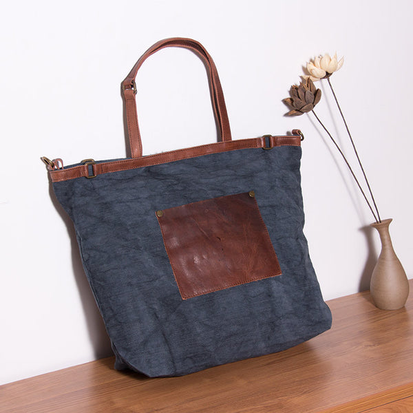 Casual Women Pocket Blue Shoulder Bag