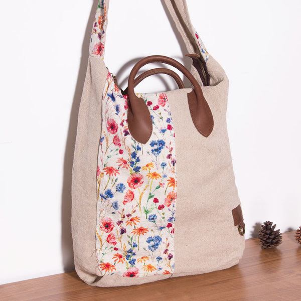 Casual Printing Women Beige Shoulder Bag