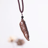Casual Women Retro Ethnic Wooden Pepper Necklaces - Buykud