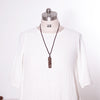 Casual Wooden Pendant Retro Lucky Women Necklace - Buykud