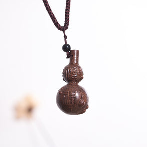 Women Wooden Ethnic Retro Gourd Necklaces - Buykud