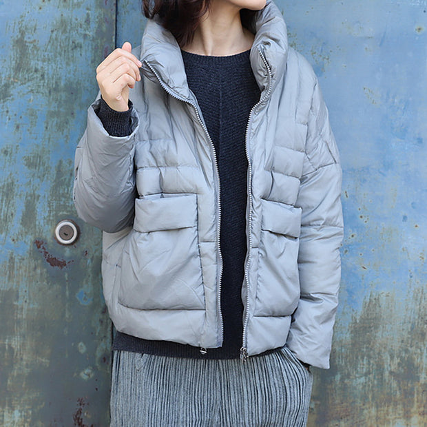 Winter Warm White Duck Down Casual Down Coat